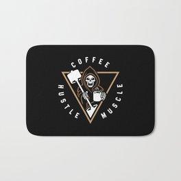 Coffee Hustle Muscle Grim Reaper Bath Mat