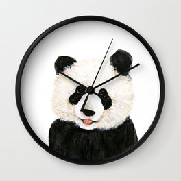 naughty little panda Wall Clock