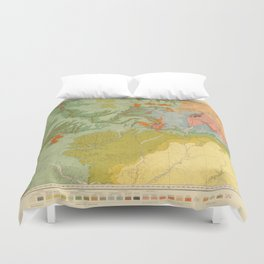 Vintage Southwest Map Duvet Cover