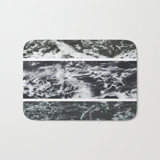 Saltwater Trytych Var II - blacks Bath Mat