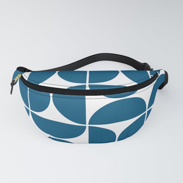 Mid Century Modern Geometric 04 Blue Fanny Pack