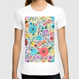 Colorful Vintage Spring Flowers T-shirt