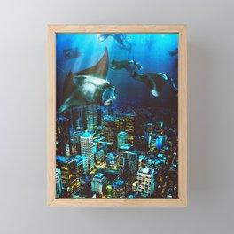 City Cruising Framed Mini Art Print