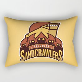 Tatooine SandCrawlers - Gold Rectangular Pillow