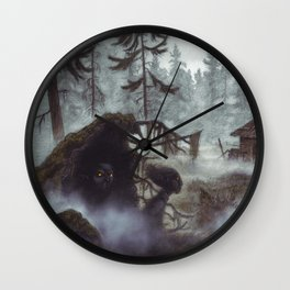 Forest vättar Wall Clock