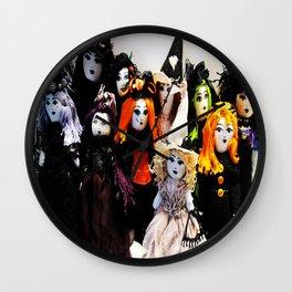 Halloween Dolls Wall Clock