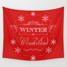 Winter Wonderland Christmas Wall Tapestry