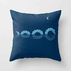narcissistic nessie Throw Pillow
