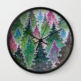 Northern Forest Wall Clock