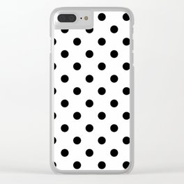 Girls just wanna have dots - Polka Dot black/white #Society6 Clear iPhone Case