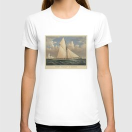 Vintage Boston Yacht - Puritan - Illustration (1885) T-shirt