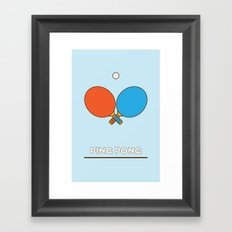 I am the sport! part1 ping pong  Framed Art Print