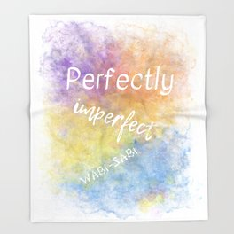 Perfectly Imperfect - Wabi-Sabi (white, blue, orange, yellow, purple) Throw Blanket