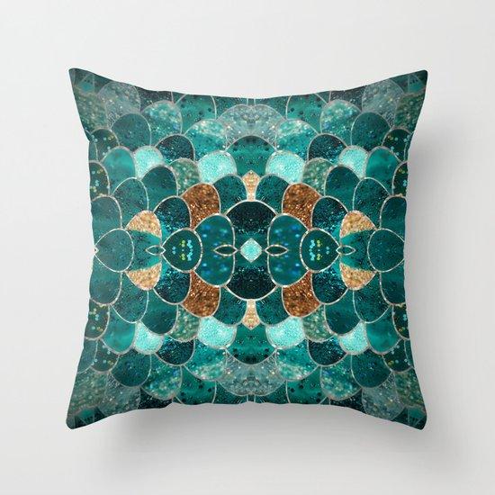 REALLY MERMAID Throw Pillow by Monika Strigel Society6