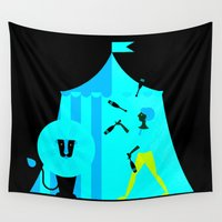 circus Wall Tapestries featuring circus by Maria Fedoseeva
