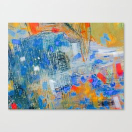Citylights and blue sky Canvas Print