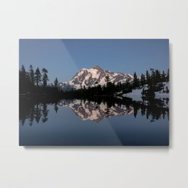 Mt. Shuksan - Blue Hour Reflection Metal Print