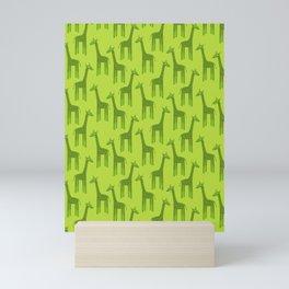 Giraffes-Green Mini Art Print
