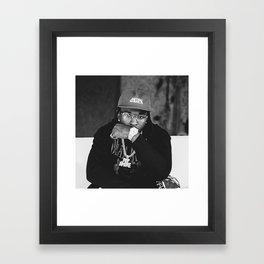 Rapper Pop Smoke Framed Art Print