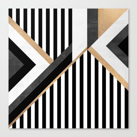 Stripe Combination Canvas Print
