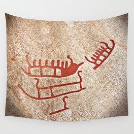 Pictogram at Vitlycke, Sweden 6 Wall Tapestry