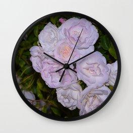 Iceberg Roses Wall Clock