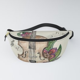 Violin and Flowers Fanny Pack