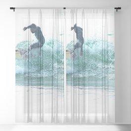 Surfing Wave  Surfer Sea Watersport Sheer Curtain