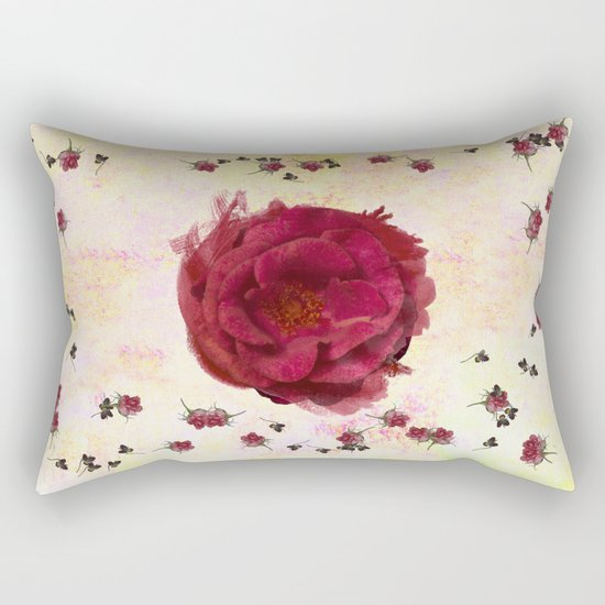 Sweet Aroma Rose Rectangular Pillow