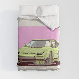 artwork car concept colorful custom-made Fernando Correa pop-up headlights simple digital cartoon Comforters