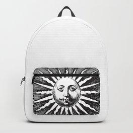 BLACK AND WHITE VINTAGE SUN Pop Art Backpack