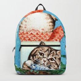 Cute Purrmaid Cat Mermaid Backpack