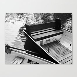 Two boats on a river Canvas Print