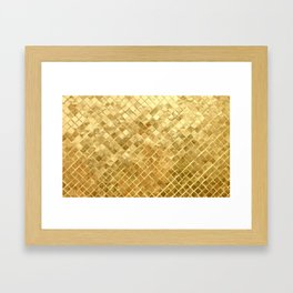 Golden Checkerboard Framed Art Print