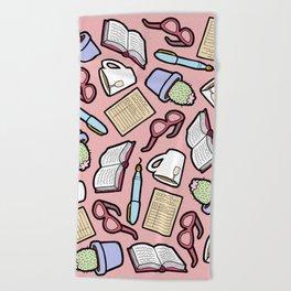 Book Club in Pink Beach Towel