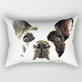 French Bulldog Art - High Contrast Print by Sharon Cummings Rectangular Pillow
