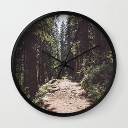 Entering the Wilderness - Landscape and Nature Photography Wall Clock