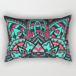 Candy Carnival Mandala Pink Blue Rectangular Pillow