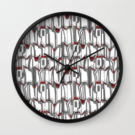 1960s classic fairy tails (tail fins) black, white and chrome Wall Clock