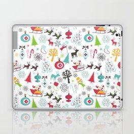 Retro Santa Holiday Christmas Pattern Laptop & iPad Skin
