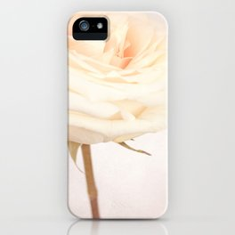 GRAZIE - White Wedding Rose iPhone Case