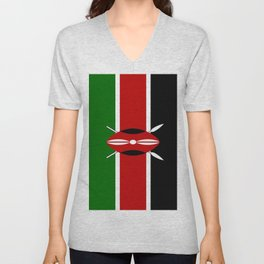 Flag of Kenya Unisex V-Neck