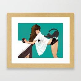 Hannah & Jake Framed Art Print