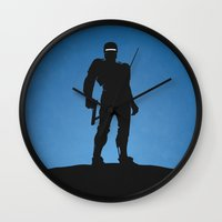 robocop Wall Clocks featuring RoboCop by Nick Kemp
