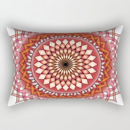 Abstract damask red spiral Rectangular Pillow