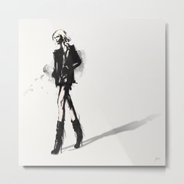 Fringe - Fashion Illustration Metal Print