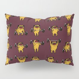 Clean and Jerks Pug Pillow Sham