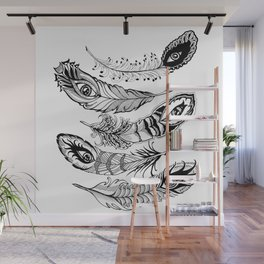 bizarre feathers Wall Mural