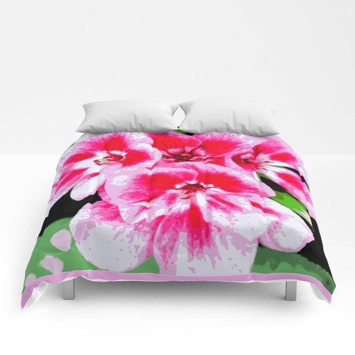 Flower   Flowers   Mod Pink Petals Comforters