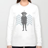 sci fi Long Sleeve T-shirts featuring Sci-Fi Geek by Jade Deluxe